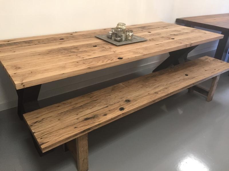 Oud Eiken Wagonplanken Zitbanken ✅ Maatwerk Meubels ✅ Kies je eigen planken in onze showroom ✅ Ook losse verkoop planken!